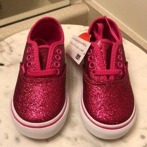 Vans Shoes - NWT Vans toddler pink glitter shoes 457ffb8d0